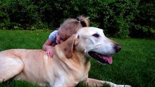 daughter with older dog