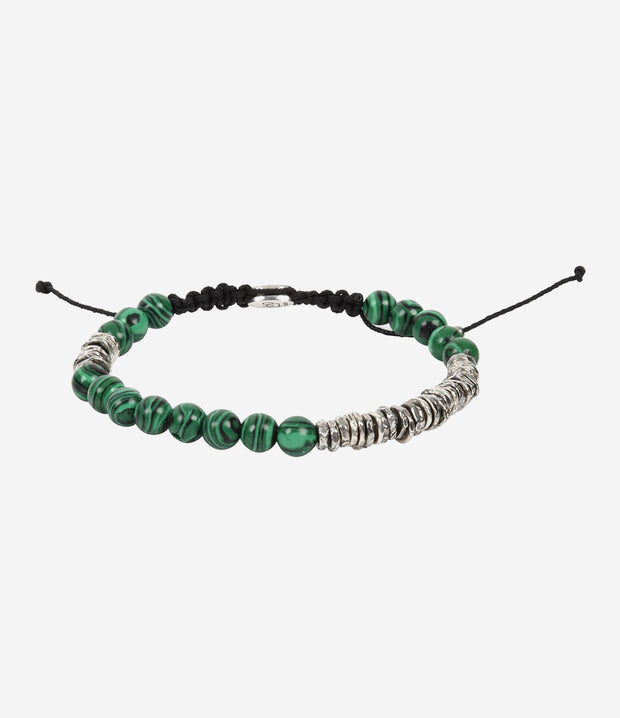 MALACHITE & STERLING SILVER WASHER BRACELET