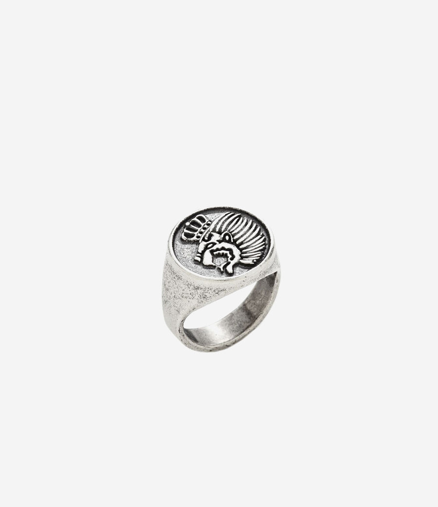 Sterling Silver Lion Crest Ring