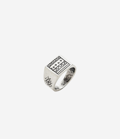 Sterling Silver Aztec Ring