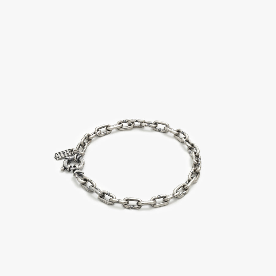 Sterling Silver Lock Chain Bracelet