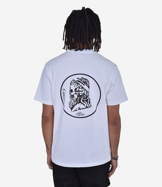 White Greek Skull T-Shirt