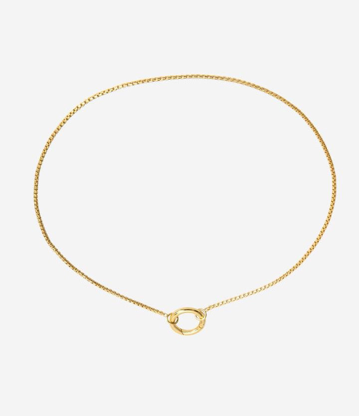 Gold Circle Amulet Necklace