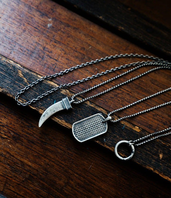 Sterling Silver Dagger Necklace