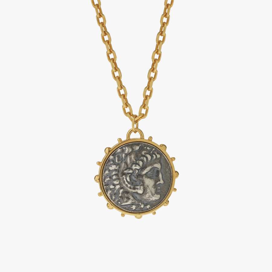 Hercules Coin Pendant Necklace