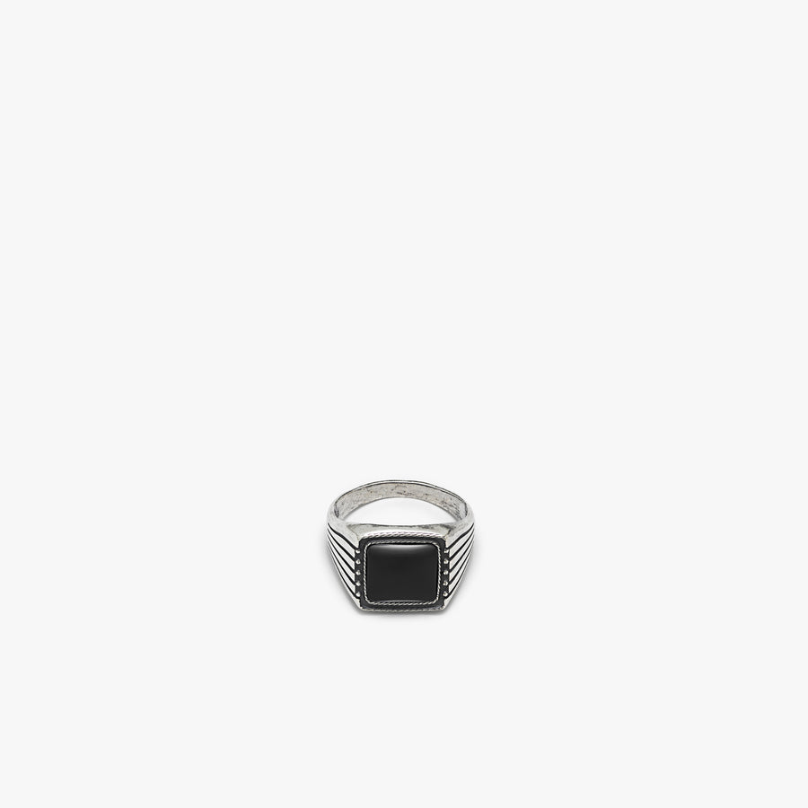 Sterling Silver Easy Rider Ring with Black Onyx
