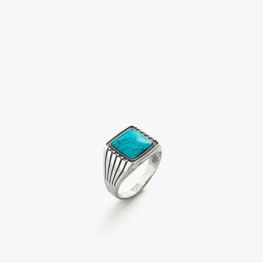 Sterling Silver Easy Rider Ring with Turquoise Stone
