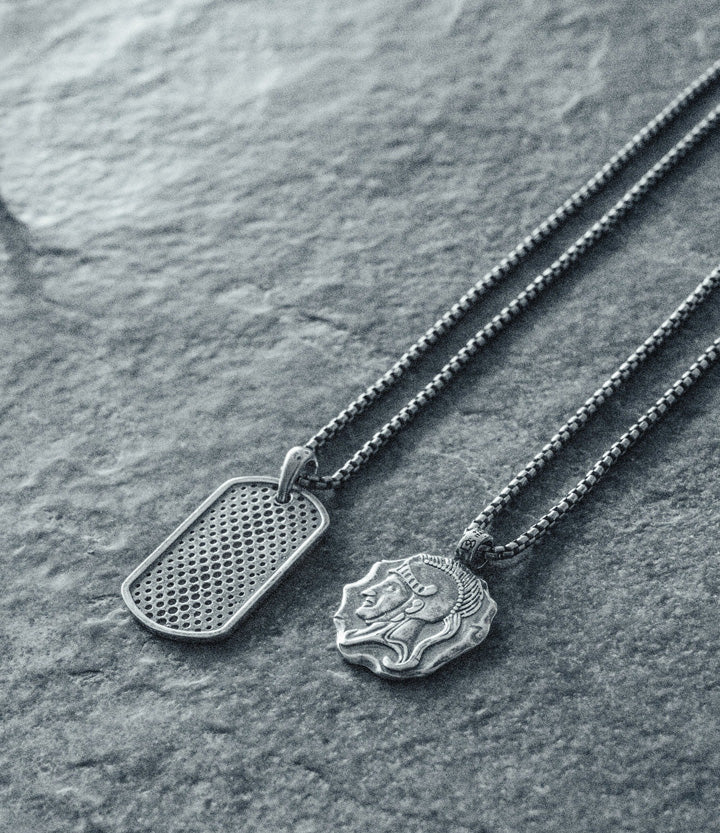 Sterling Silver Spartan Necklace
