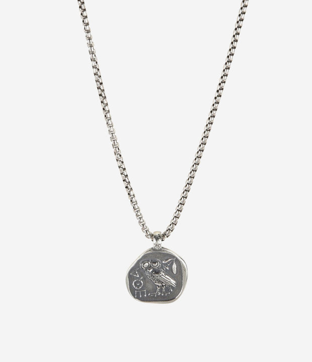 Sterling Silver Greek Owl Necklace