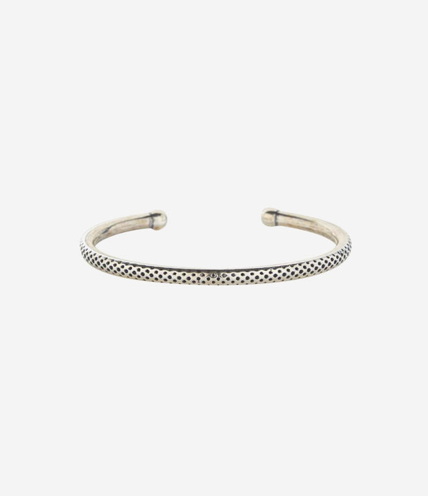 Sterling Silver Dotted Textured Cuff