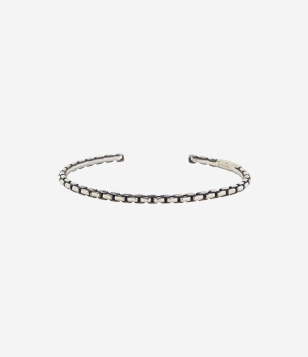 Sterling Silver Box Chain Cuff