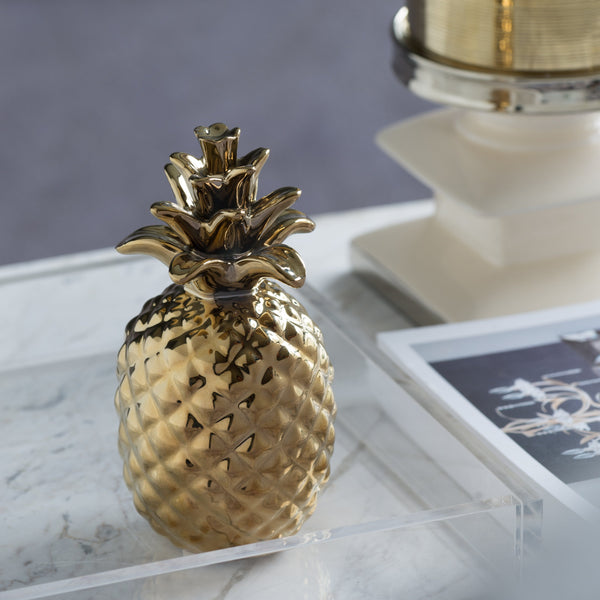 Ceramic Gold Pineapple