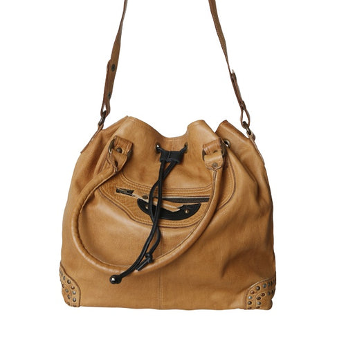 HATTIE BAG BLACK/CAMEL