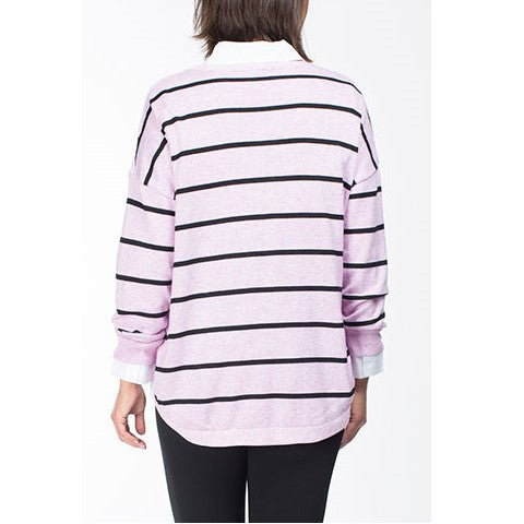 Lilac Stripe Knit