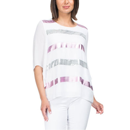 Hammock & Vine Cashmere Blend Block Stripe Knit