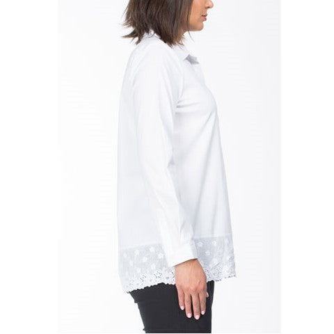 Embroidered Hem Shirt