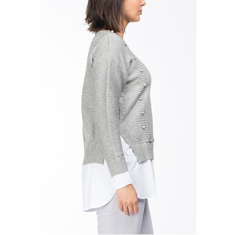 2 in 1 Knit Grey