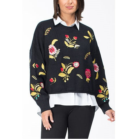 THREADZ EMBROIDERED KNIT