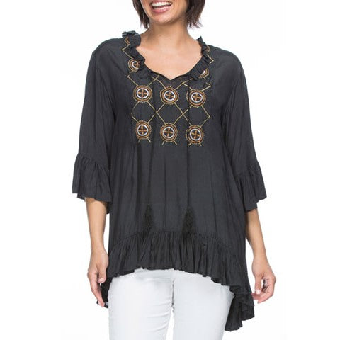 CLARITY EMBROIDERED TOP