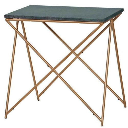 Ellery Green Marble Side Table