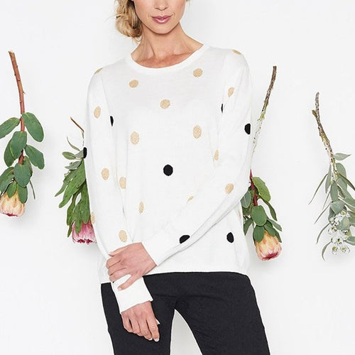 Threadz Spot Jumper White