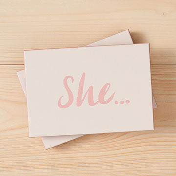 Boxed Cards - She