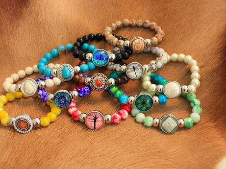 BEADED BRACELET VARIOUS COLOURS