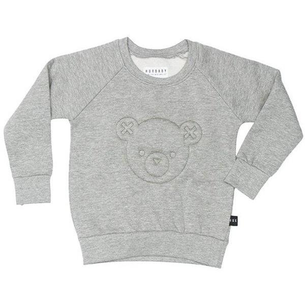 GREY STITCH BEAR SWEATSHIRT