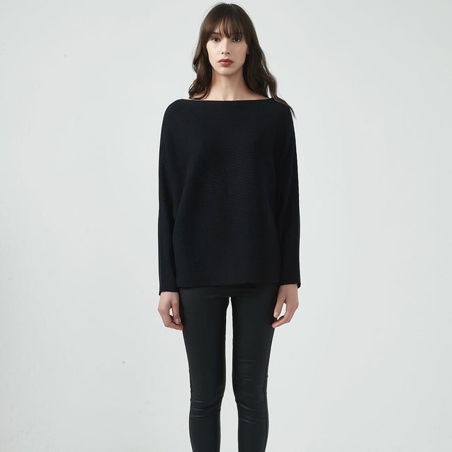 Ribbed Knit Black