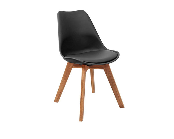RAY CHAIR OAK LEGS BLACK
