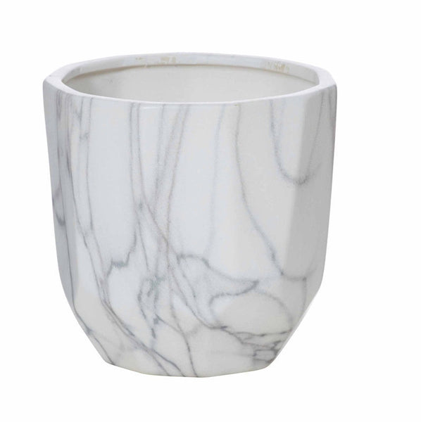 Marble Facet Pot