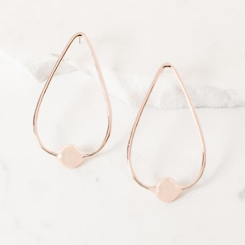 Teardrop Ball End Stud Earring