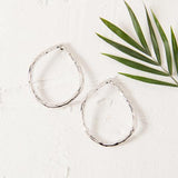 Beaten Stud Teardrop Earrings