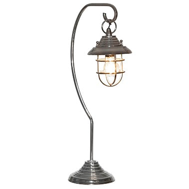 Silver Hanging Cage Table Lamp