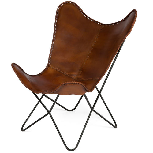 Charlie Iron & Leather Rest Chair