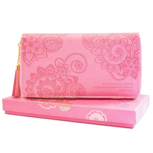 VINTAGE PINK TRAVEL CLUTCH