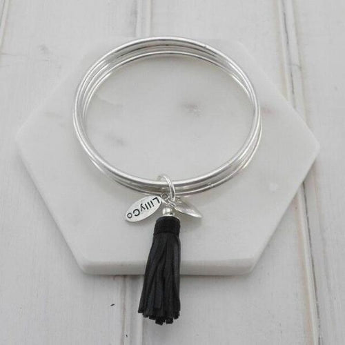 Black Tassel Bangle