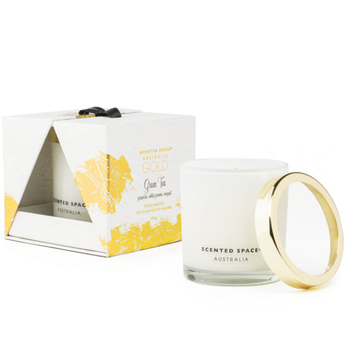 Apsley & Co. Gold Green Tea Candle