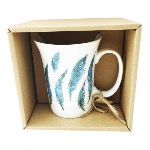 Feather Boxed Mug