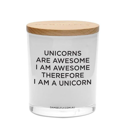Unicorns Are Awesome Candle 400g