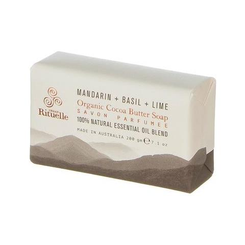 Equilibrium Mandarin Basil & Lime Organic Cocoa Butter Soap 200g