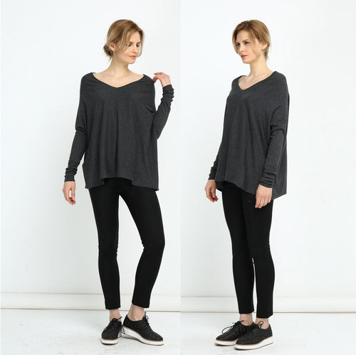 Low V Neck Jumper