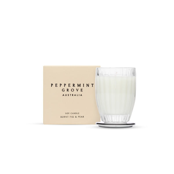 Peppermint Grove Burnt Fig & Pear Soy Candle