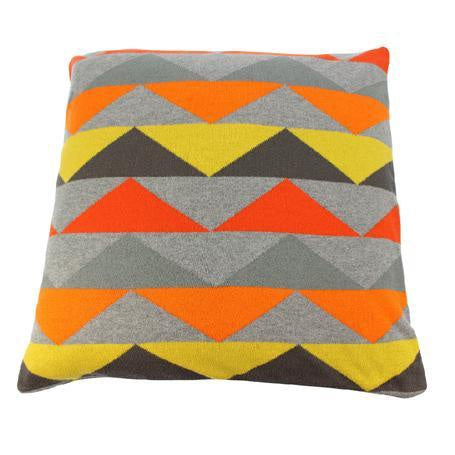 Zig Zag Cotton Knit Cushion