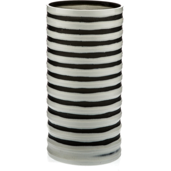 Duo Tone Stripe Cut Vase