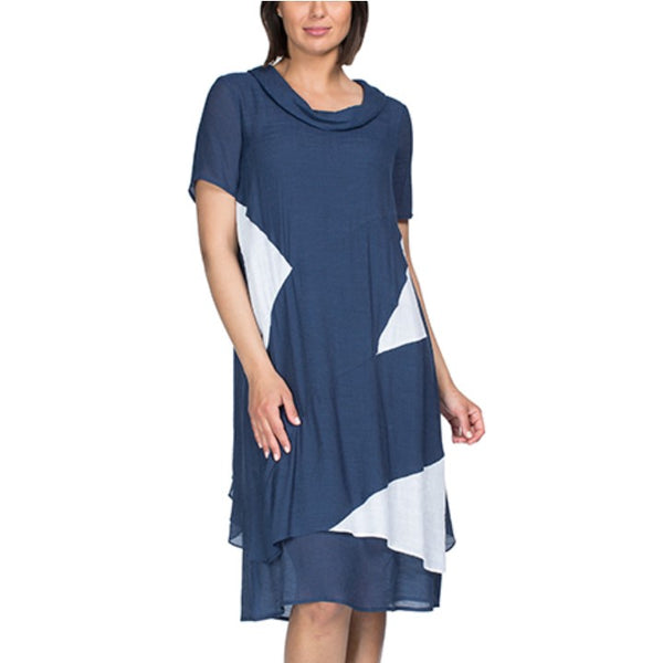Threadz Cowl Neck Dress