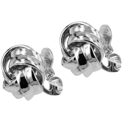 Rounded Knot Clip on Earrings