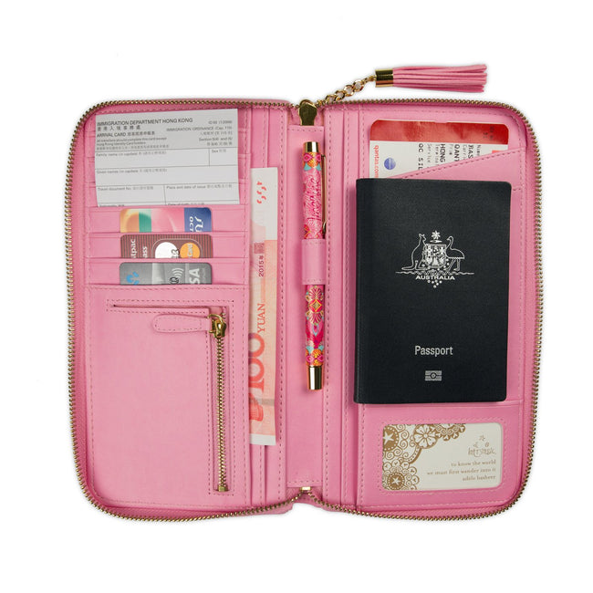 Intrinsic Vintage Pink Travel Clutch