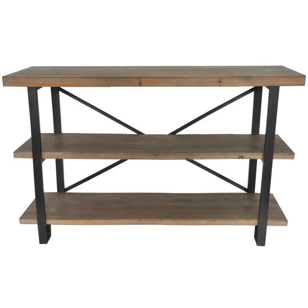 Rectangle 3 Level Industrial Shelf
