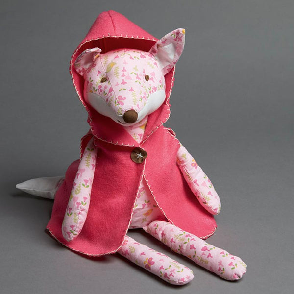 FLORAL FOX WITH HOT PINK CAPE